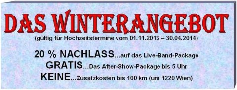 Winterangebot - Günstig gute Musik! FIRST DANCE BAND